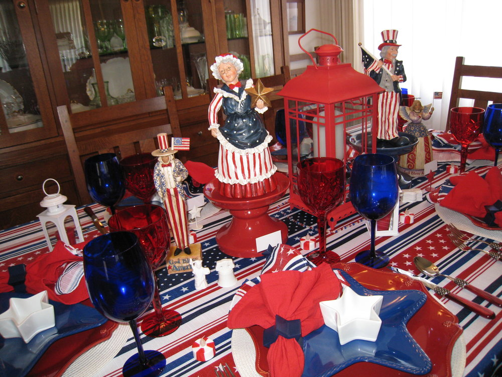Another 4th of July table setting — Whispers of the Heart