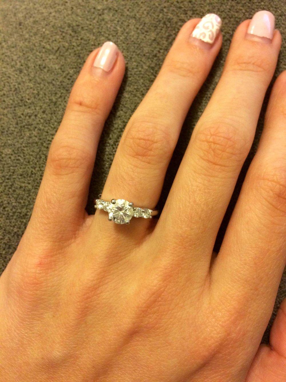 Still loving my beautifully designed custom ring by Norma Wellington. - - M.S.
