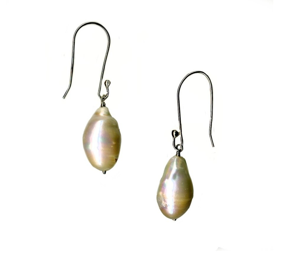 - Unique 1 1/4 freshwater pearls on sterling. $400
