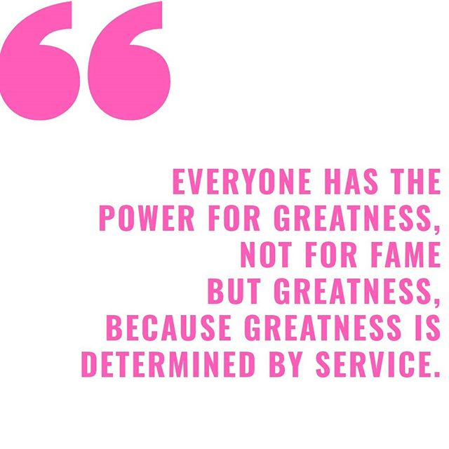 The potential for greatness lives within each one of us.💛👏🏼...serve others above all else.