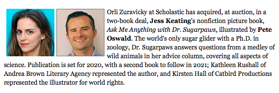 ASK ME ANYTHING WITH DR. SUGARPAWS by Jess Keating