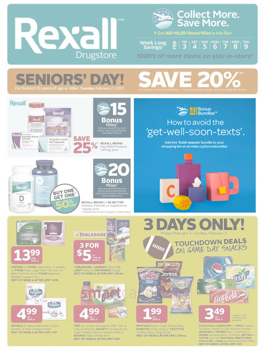 Direct Mail/In-Store: Rexall Flyer