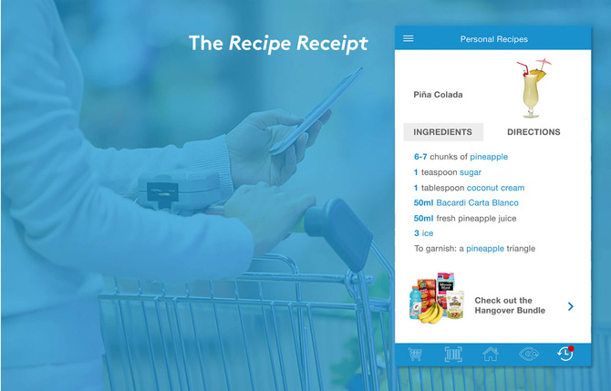 In store: Recipe Receipt for Air Miles members