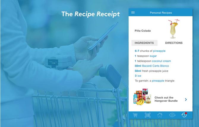 In store: Recipe Receipt for Air Miles members
