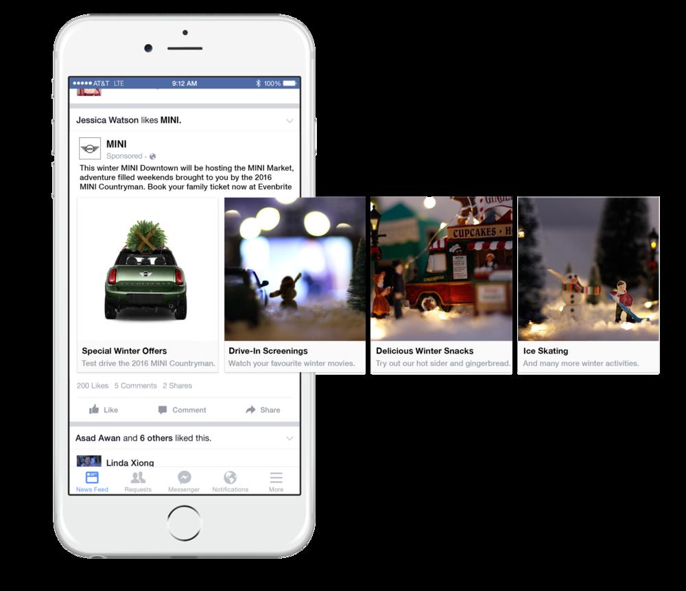 Social: FB Sponsored Carousel