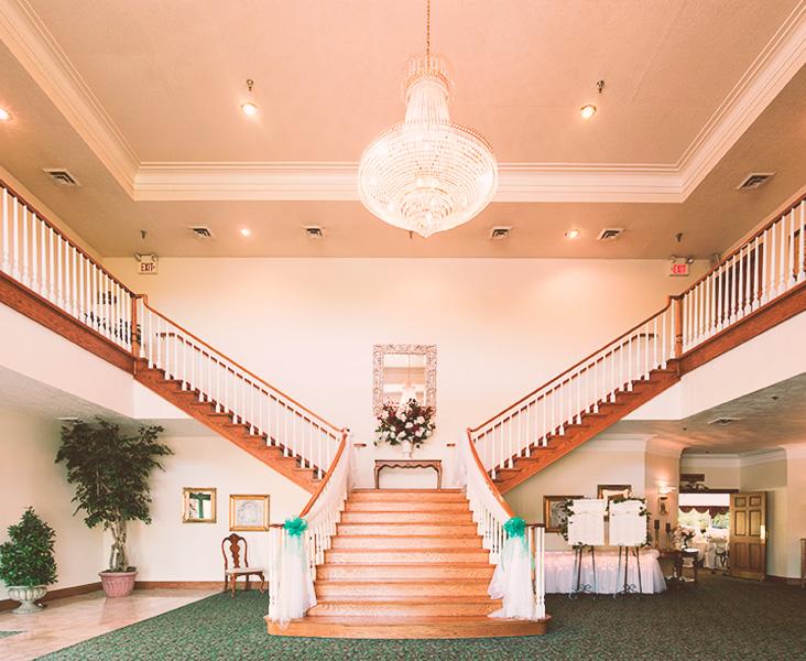 Staircase at Orlando Familia Banquet Center