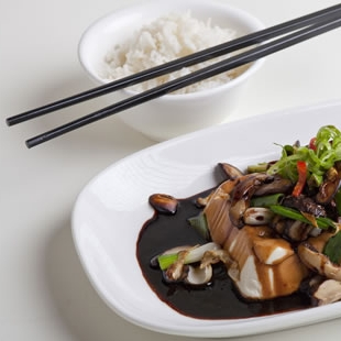 Master Stock with Stir Fried Shiitake Mushrooms and Tofu
