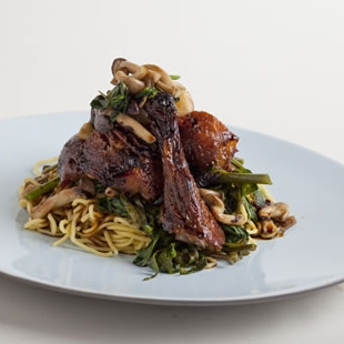 Master Stock with Twice Cooked Duck and Egg Noodles