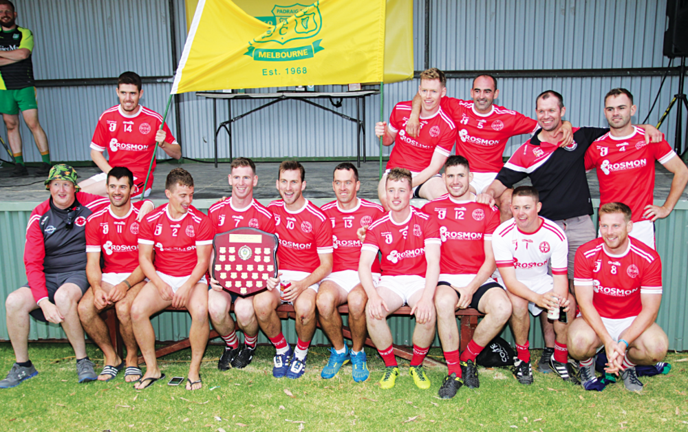 Michael Cusacks men's hurling team winners.  PIC: Darken Sportz