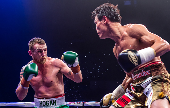 Kildare boxer Dennis Hogan is one win away from a shot at the world title. Picture: Katherine O'Malley