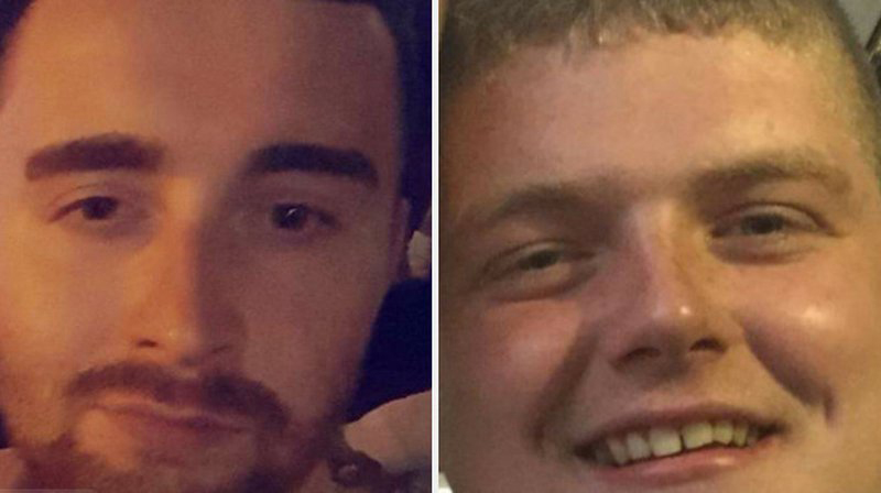 Christopher McLaughlin (L) and Nathan Kelly have been charged with murder.