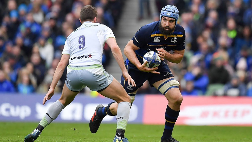 Australian flanker Scott Fardy in action for Leinster