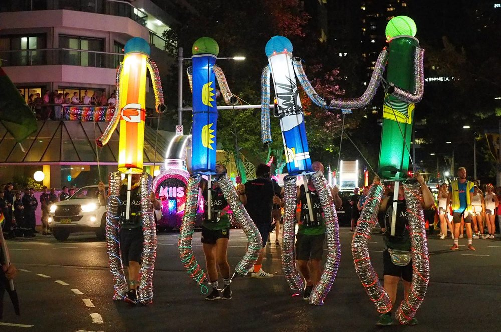 The four provinces join the Sydney Gay and Lesbian Mardi Gras.