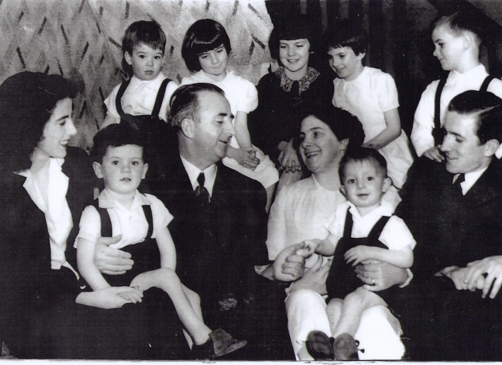 The O'Carroll clan. Six of the children attended the NSW Conservatorium Of Music.