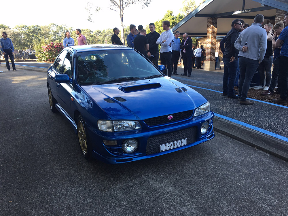 'Frankie's Car' - The Suburu WRX which was presented to Broc Nicholson by mates of her late fiancee.