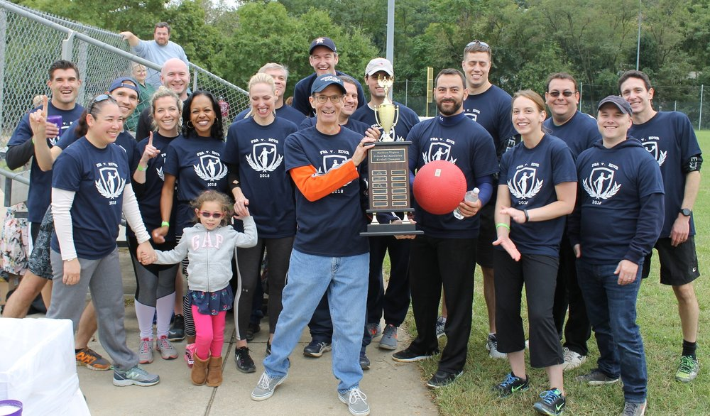 2018 Kickball Champions: FBA Team, led to victory by Honorable Coach Anderson