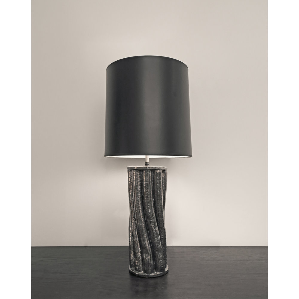 Torqued Column Lamp Base