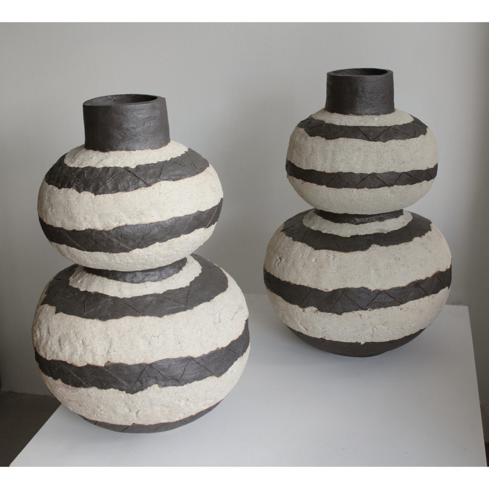 Striped Double Gourd Vase (Pair)