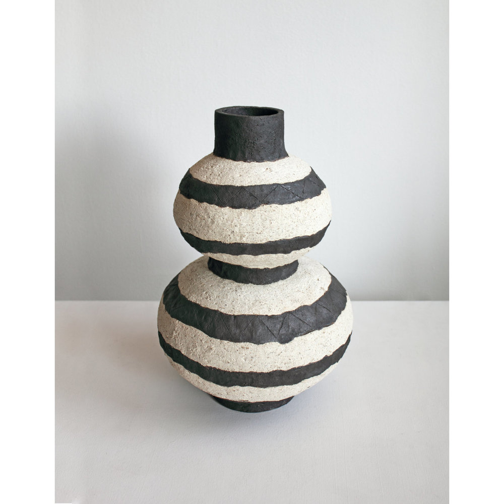 Striped Double Gourd Vase/Base