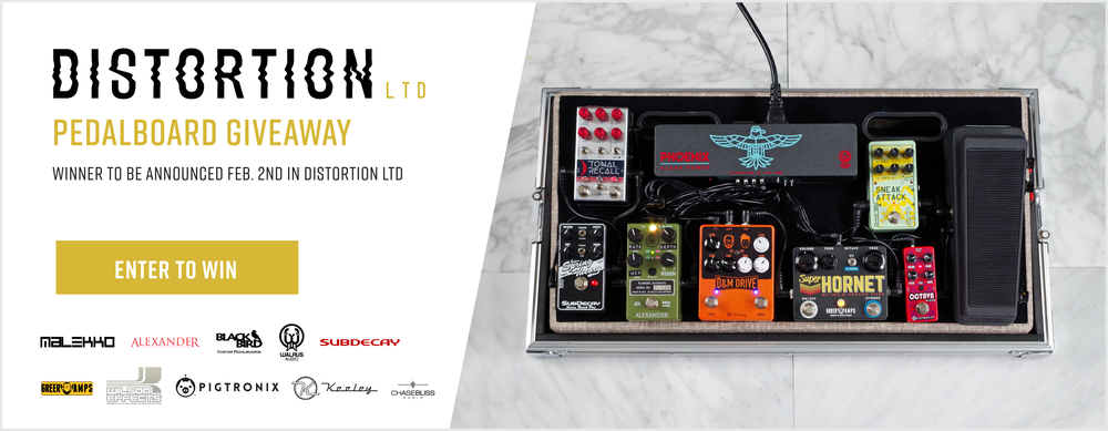 Includes:  Chase Bliss Audio – Tonal Recall, Alexander Pedals – F-13 Neo Flanger, Subdecay  – Super String Theory, Keeley Electronics – D&M Drive, Greer Amps – Super Hornet, Pigtronix – Octava, Wilson Effects – Freaker Wah 2 , Malekko – Sneak Attack, Walrus Audio – Phoenix Power Supply, Blackbird Pedalboard, Anvil Flight Case
