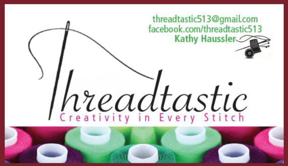 THREADTASTIC - Specializing in machine embroidered towels and other small practical items made on the embroidery machine.