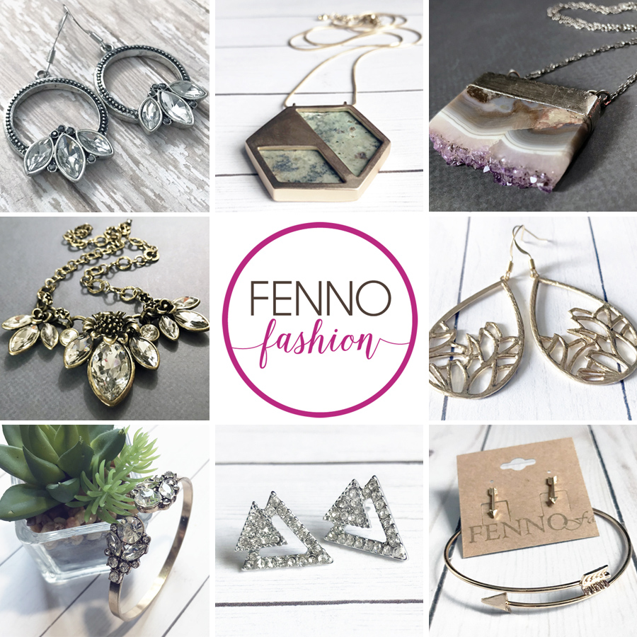 FENNO FASHION - For the last decade, Megan Fenno has been designing and creating accessories under the name FENNOfashion. With a degree in fashion & accessory design from Savannah College of Art & Design, Megan mixed her dream of owning her own business with her love for accessories.Read more about Megan here: https://meganfenno.com/pages/about