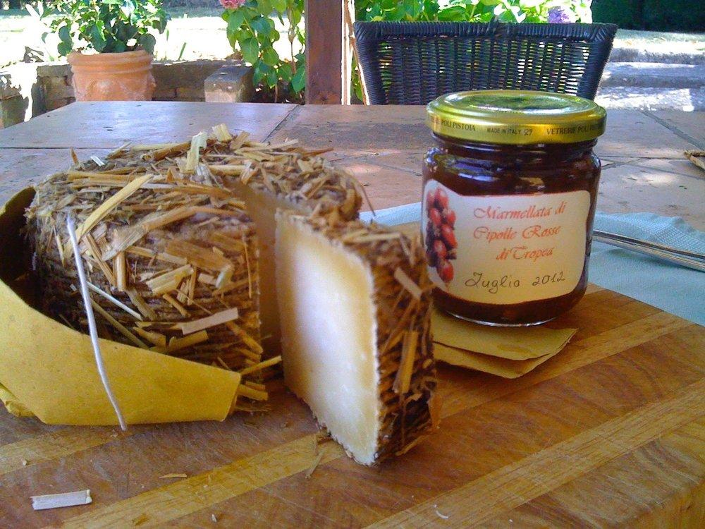 Pecorino and homemade marmalato