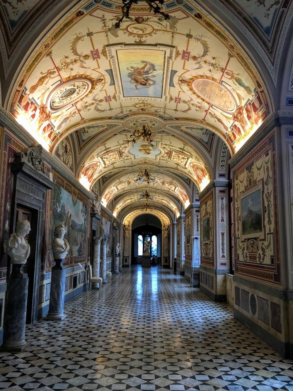 Inside Castello di Torre Alfina