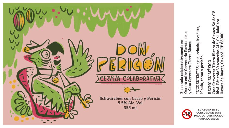Nuestra primera colaboración con Casa Cervecera Tierra Blanca, de Oaxaca. Una schwarzbier con cacao e infusión de hierba pericón. Edición limitada del 2017