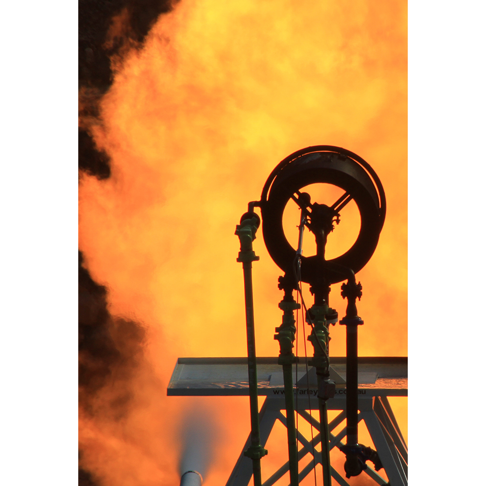Oil and gas equipment rental fire