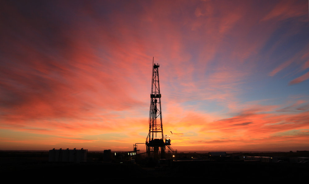 About oil and gas equipment pink sunset