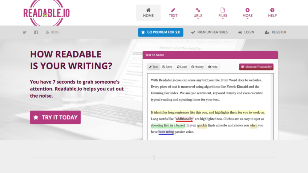 seo copywriting tools readability score