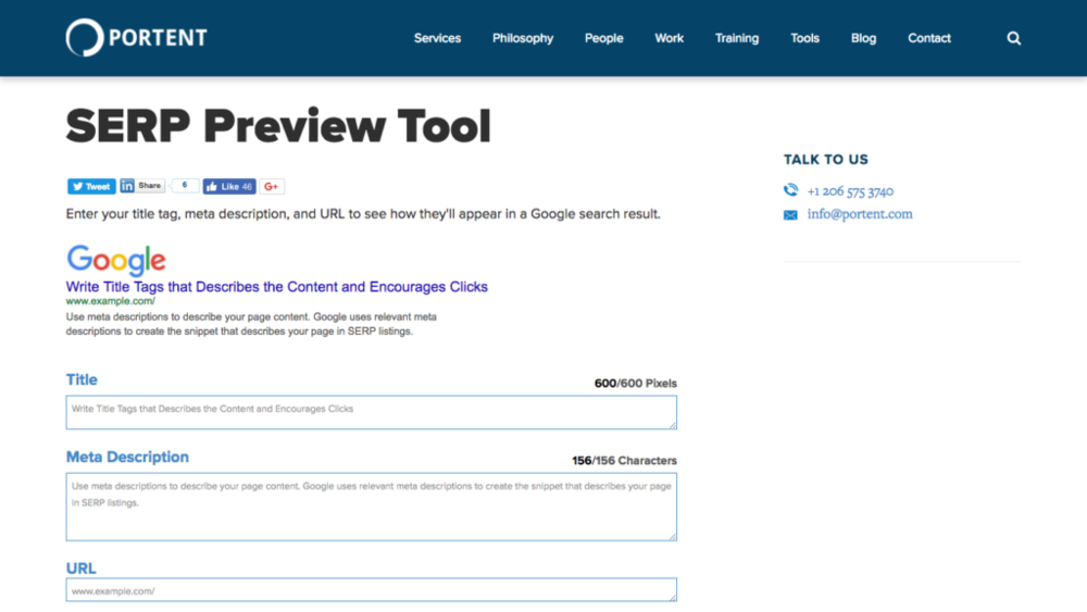 seo copywriting tools serp preview