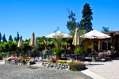 The patio at Marchesi Vineyards.