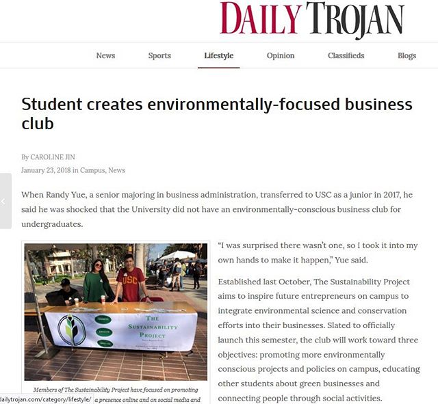 "Pick up your copy of the ""Daily Trojan"" to read about our exciting new club!!"