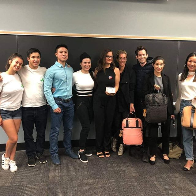 It was an absolute pleasure having #miterrofashion #madamelemy and #rewilder come speak at USC about their green fashion/cosmetic products! Thank you to everyone who came out! ✌