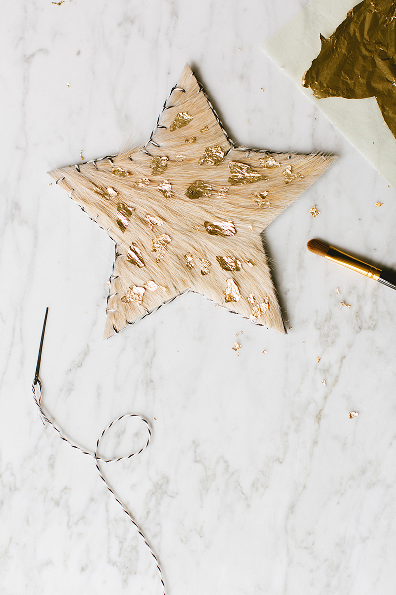 Calf Hair Tree Topper via  Jojotastic