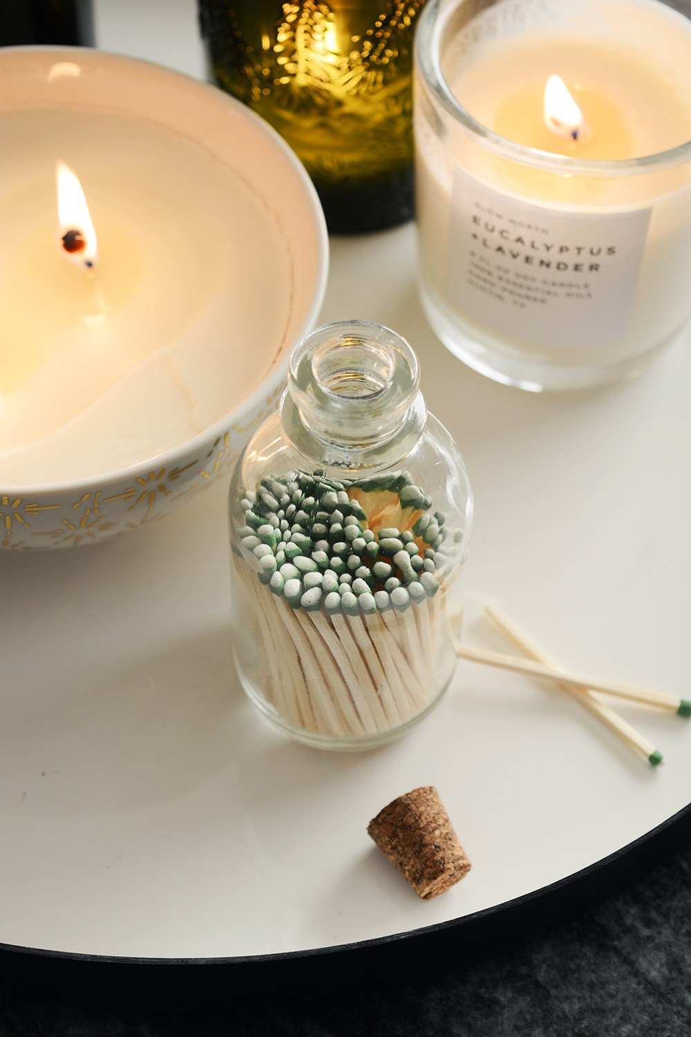 DIY Match Jars via  Oleander and Palm