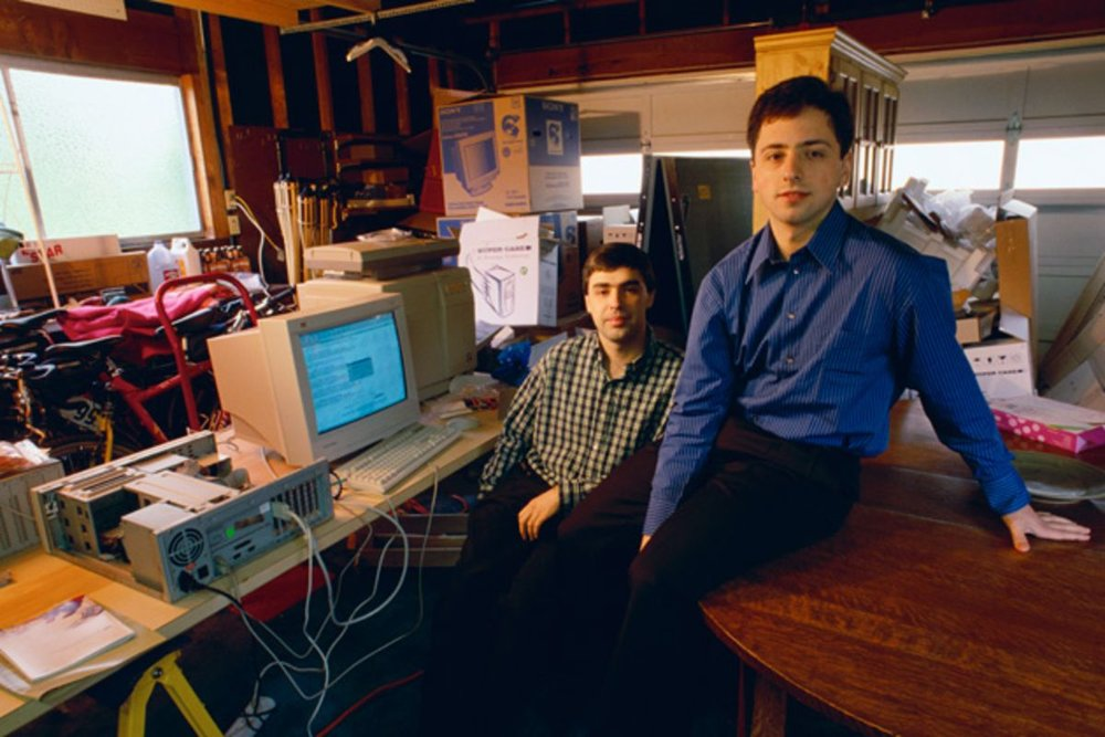 Larry Page and Sergey Brin (via Bloomberg)