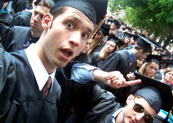 Alexis Ohanian on graduation day (via Slate)