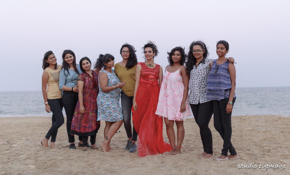 The Team at Radhika and Divyas shoot