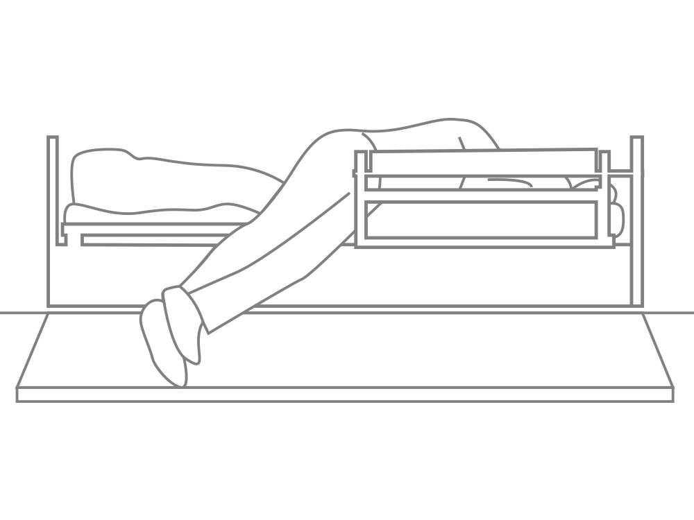 OSKA® Pressure Care Sentida 4 nursing bed fall prevention