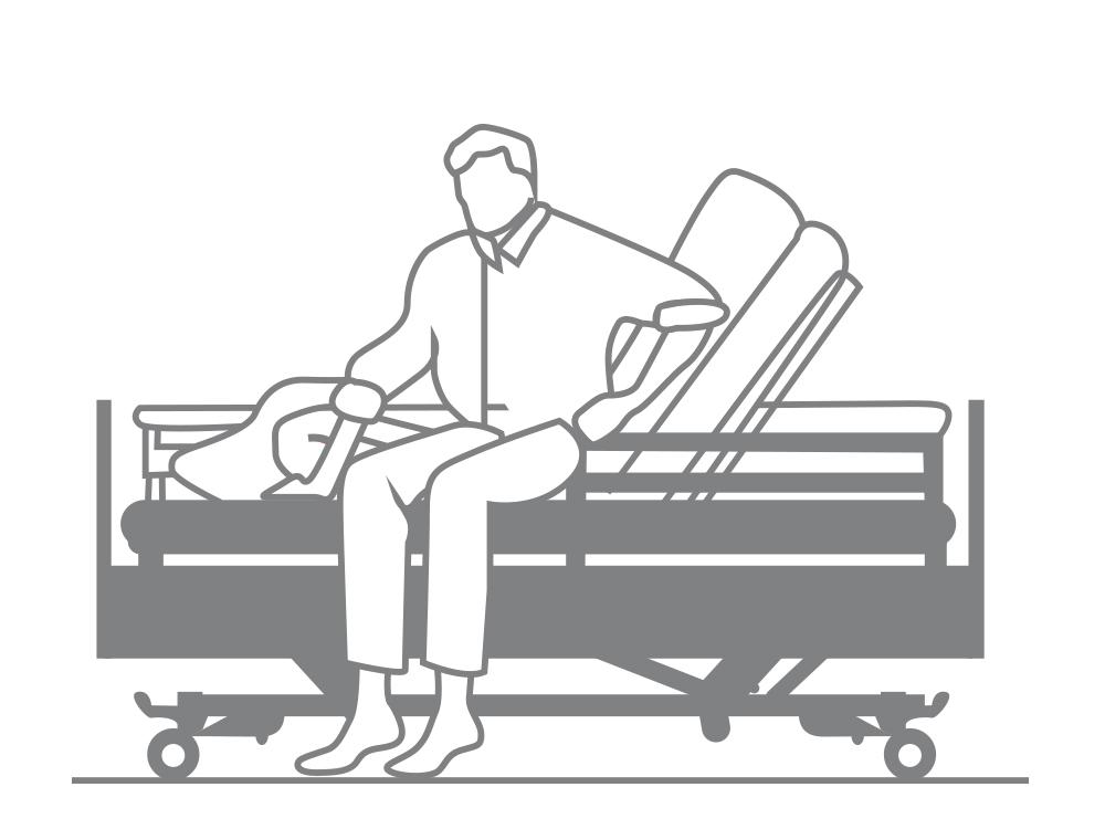 OSKA® Pressure Care Sentida 4 nursing bed 3 stop strategy