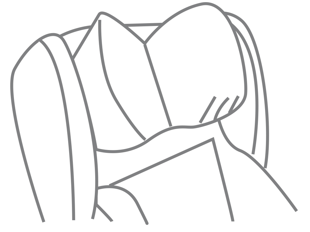 Midline headrest