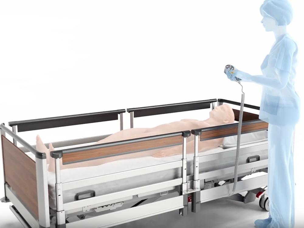 OSKA® Pressure Care Nursing Bed_Image 3 Pressure Care Bed_3 stop strategy