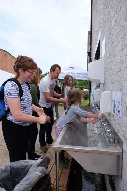 Handwashing facilities at Hill House Farm