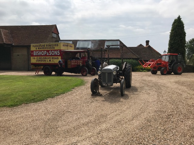 The vintage vehicles at Hill House Farm