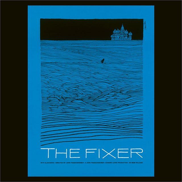 In the studio this week we are revisiting the works of iconic designer Saul Bass. (The Fixer. 1968, dir. John Frankenheimer)
