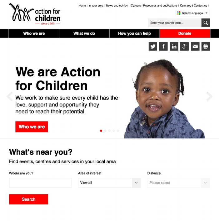 Action for Children, a UK children's charity | Action for Children (20150612).jpg