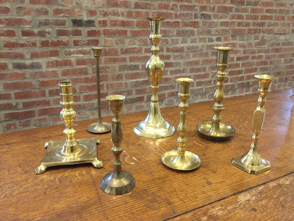 Mismatch Vintage Brass Candlesticks - $2 each